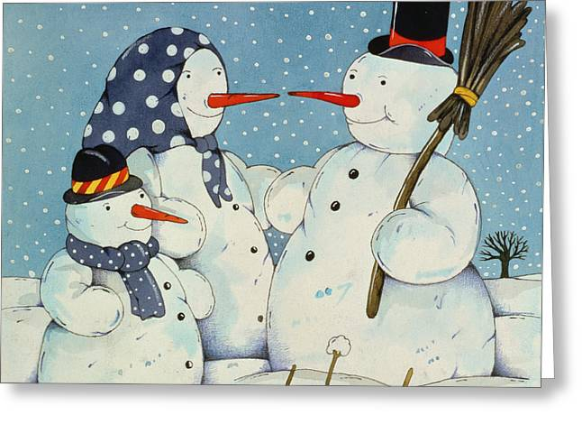 The Snowman Family Greeting Card