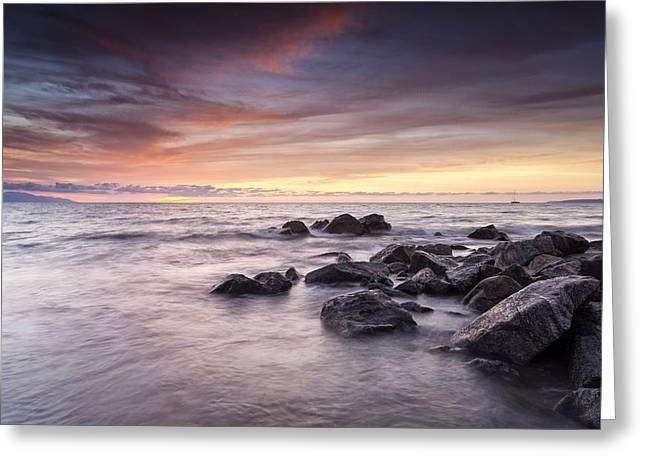 The Soft Ocean Breeze Greeting Card by Edward Kreis