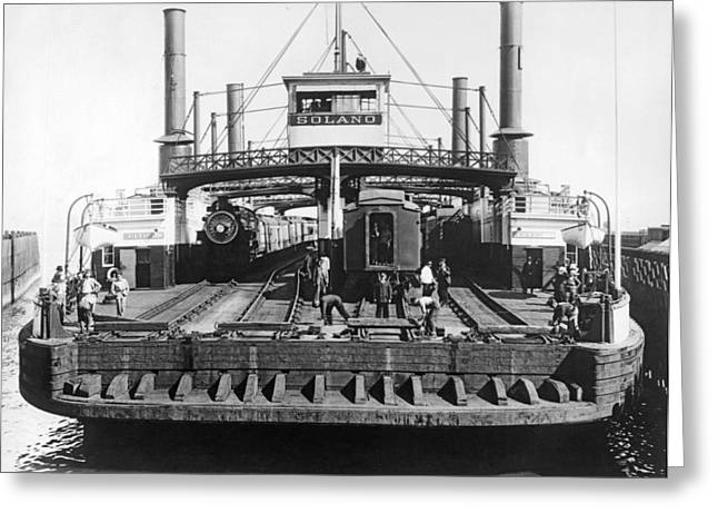 The Solano Ferry Greeting Card by Underwood Archives