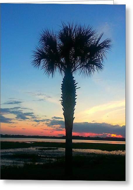 Greeting Card featuring the photograph The Solo Palm by Joetta Beauford