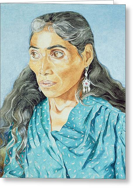 The Soothsayer, 1986 Oil On Canvas Greeting Card