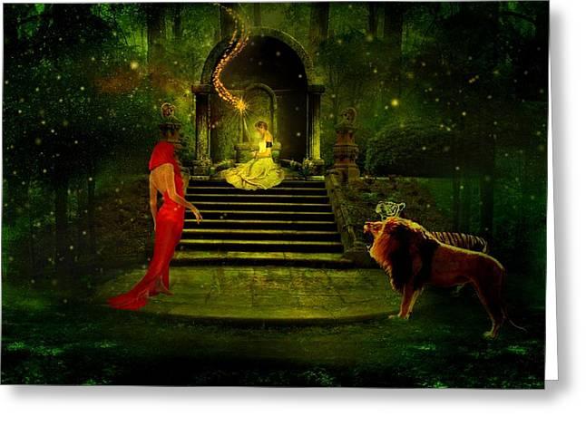 The Sorceress Greeting Card by Amanda Struz