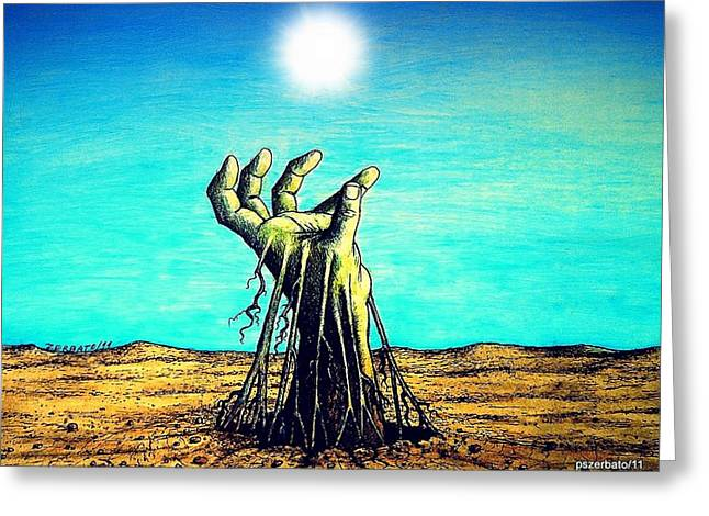The Soul Is For The Truth Like The Root Is For The Land Greeting Card by Paulo Zerbato