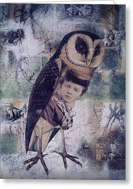 The Soul Of An Owl  Greeting Card