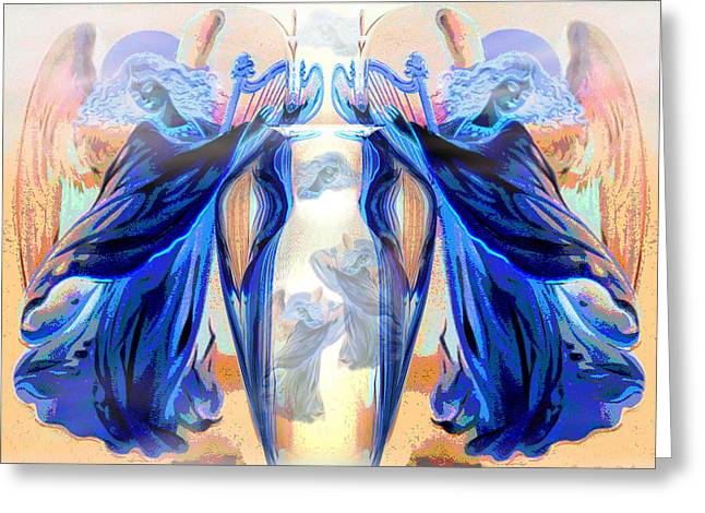 The Sounds Of Angels Greeting Card by Joyce Dickens