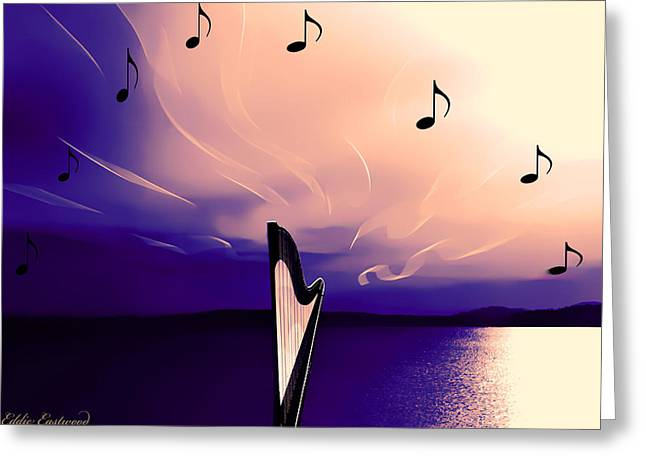 The Sounds Of Sunset Greeting Card by Eddie Eastwood