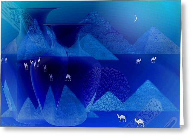 The Sounds Of The Desert At Night Greeting Card by Joyce Dickens
