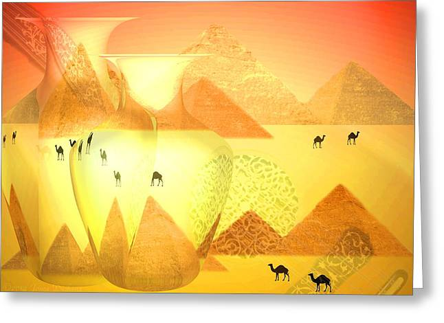 The Sounds Of The Desert Greeting Card by Joyce Dickens