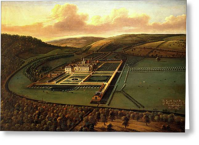 The Southeast Prospect Of Hampton Court, Herefordshire Greeting Card by Litz Collection