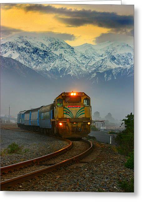 The Southerner Train New Zealand Greeting Card by Amanda Stadther
