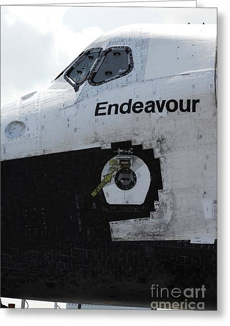 The Space Shuttle Endeavour 3 Greeting Card by Micah May