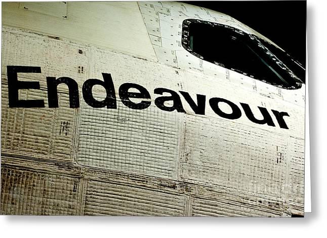 The Space Shuttle Endeavour At Its Final Destination 19 Greeting Card by Micah May