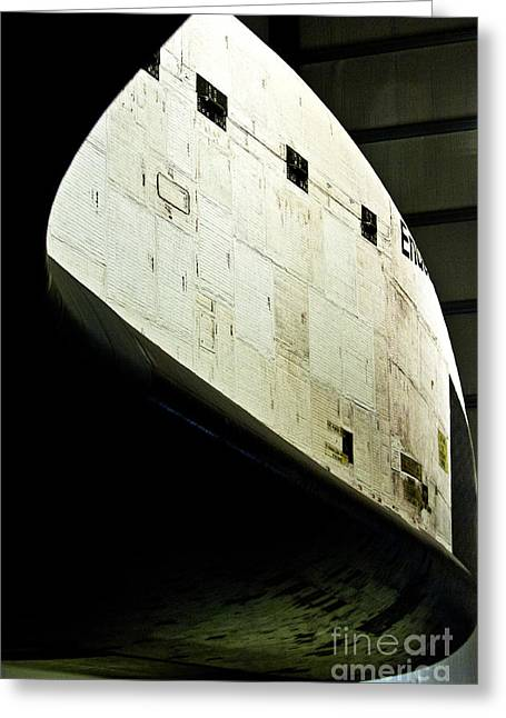 The Space Shuttle Endeavour At Its Final Destination 24 Greeting Card by Micah May