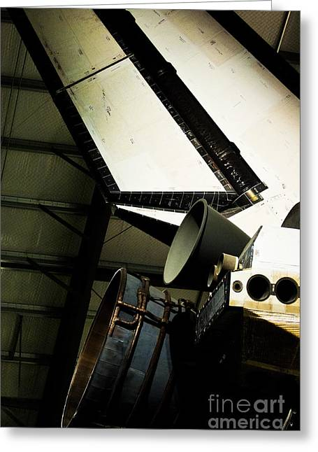The Space Shuttle Endeavour At Its Final Destination 27 Greeting Card