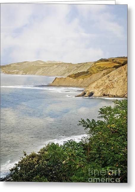 The Spanish North Coast Greeting Card by Mary Machare