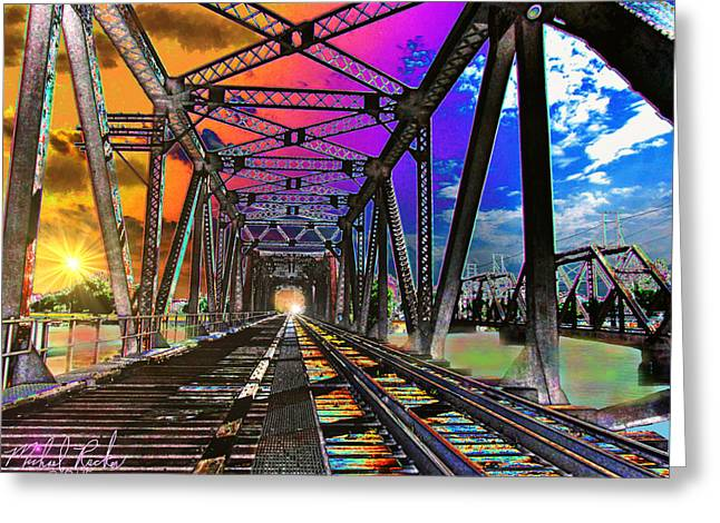 The Spectrum Bridge Greeting Card by Michael Rucker