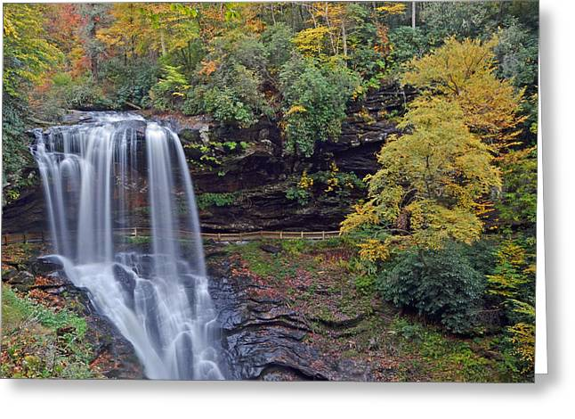 The Spendor Of Highlands Dry Falls Greeting Card by Mary Anne Baker