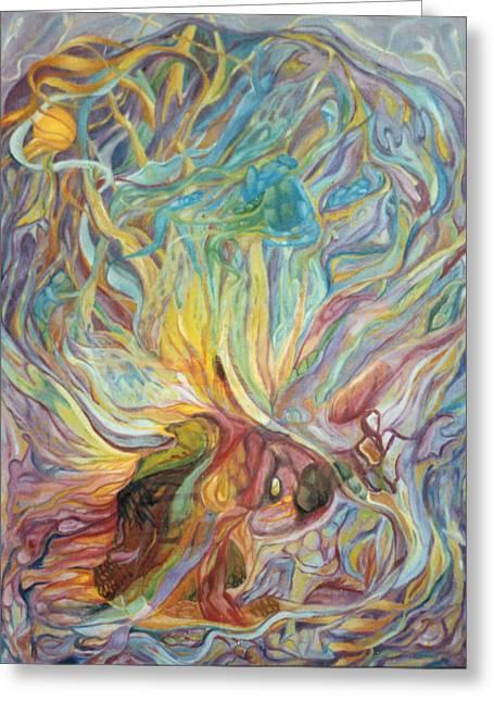 The Sphere Of The Shekinah Sun Greeting Card by Daniel Gautier
