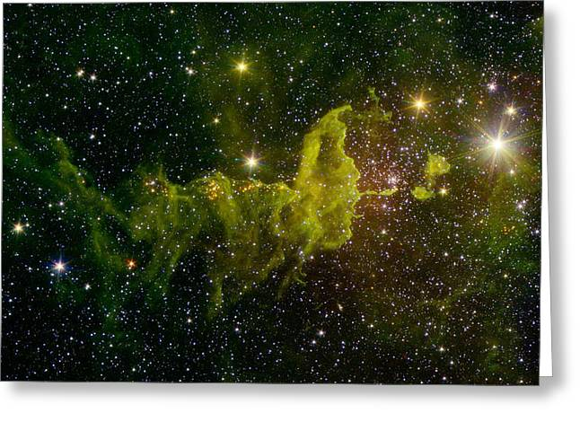 The Spider Nebula Ic 417 Greeting Card by Science Source