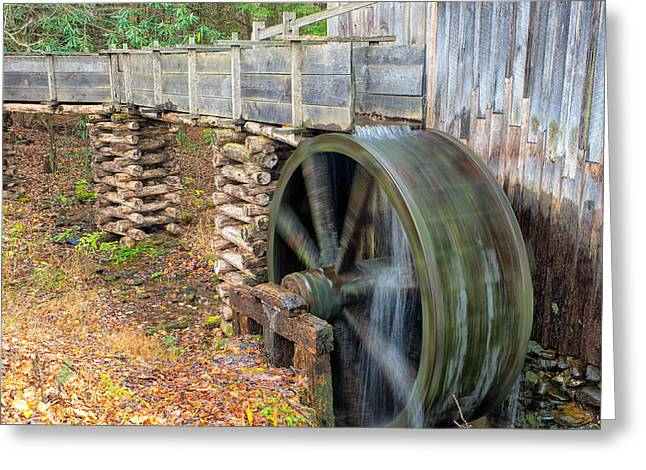 The Spinning Water Wheel Greeting Card