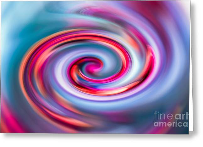 The Spiral Greeting Card by Hannes Cmarits