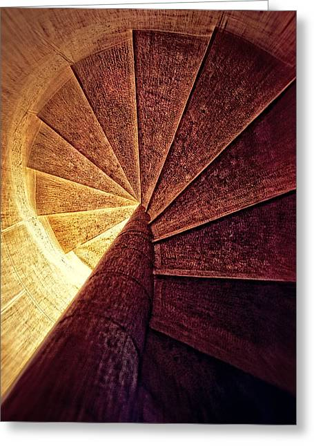 The Spiral Staircase Greeting Card by Mary Machare