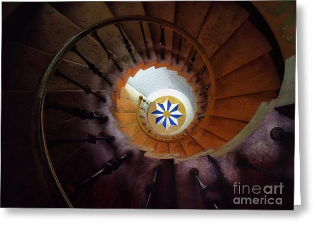 The Spiral Staircase Of Villa Vizcaya Greeting Card by Mike Nellums