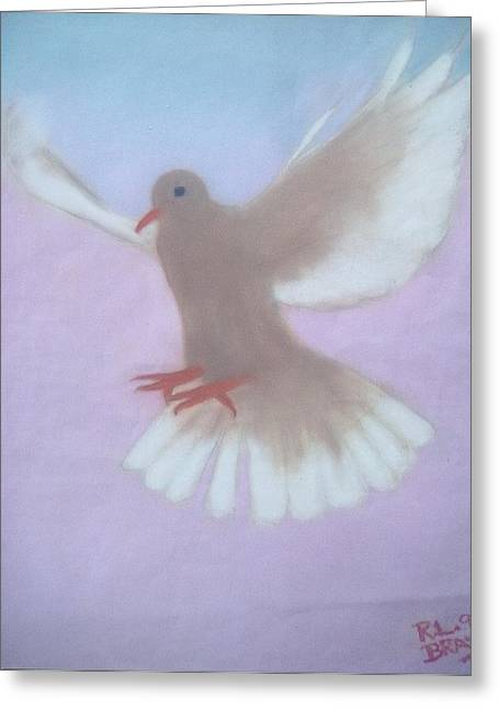 The Spirit Descendedlike A Dove. Greeting Card