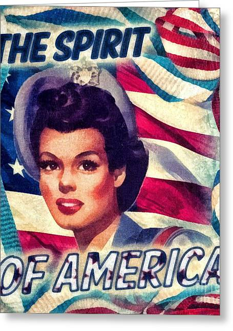 The Spirit Of America Greeting Card by Mo T