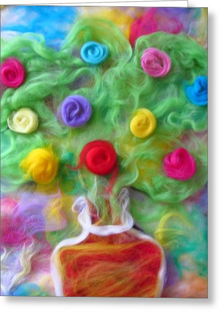 The Spirit Of Cider Greeting Card by Natalia Levis-Fox