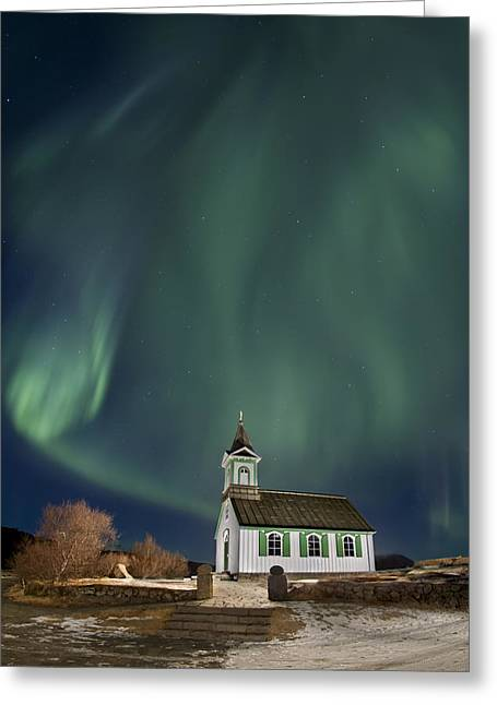 The Spirit Of Iceland Greeting Card by Evelina Kremsdorf