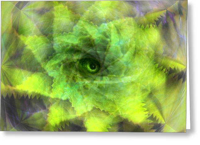 Greeting Card featuring the digital art The Spirit Of The Jungle by Martina  Rathgens