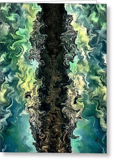 The Split By Rafi Talby Greeting Card by Rafi Talby