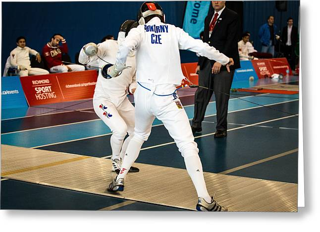 The Sport Of Fencing 1 Greeting Card