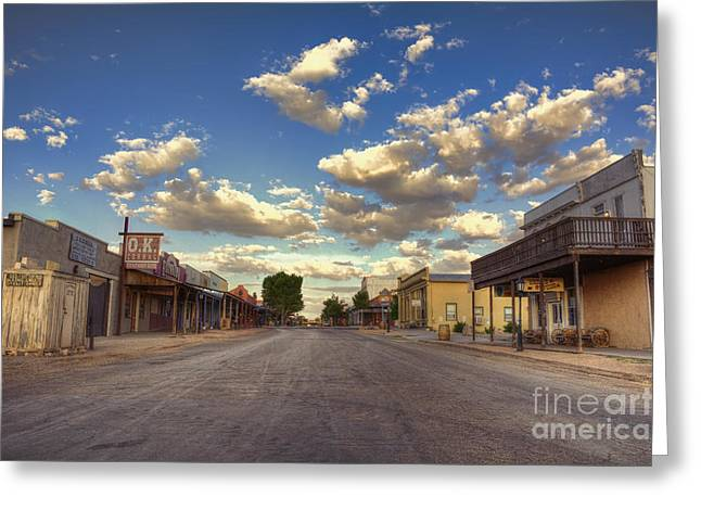 The Sreets Of Tombstone Greeting Card by Eddie Yerkish