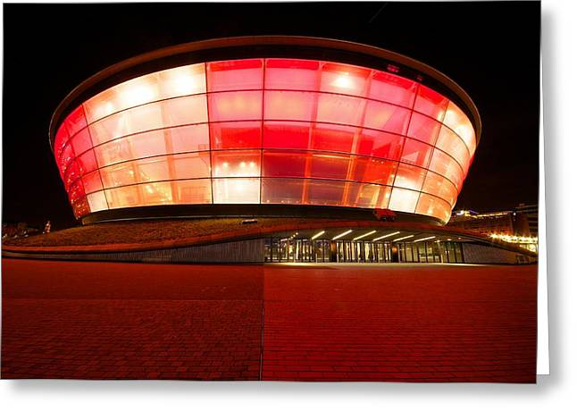 The Sse Hydro In Red Greeting Card