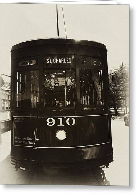The St. Charles Line Greeting Card by Bill Cannon