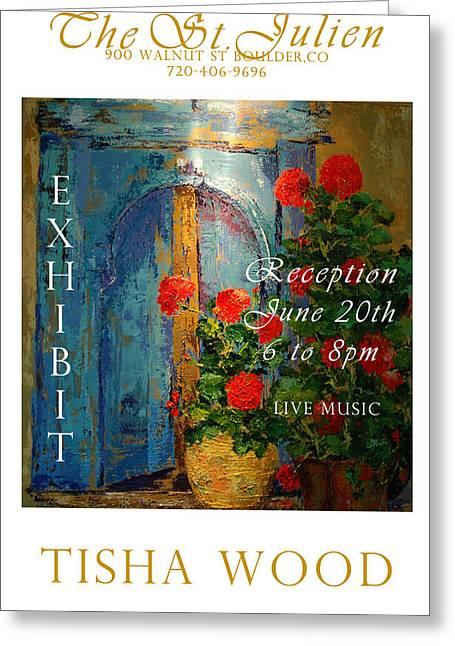 The St Julien Poster Greeting Card by Tisha Wood