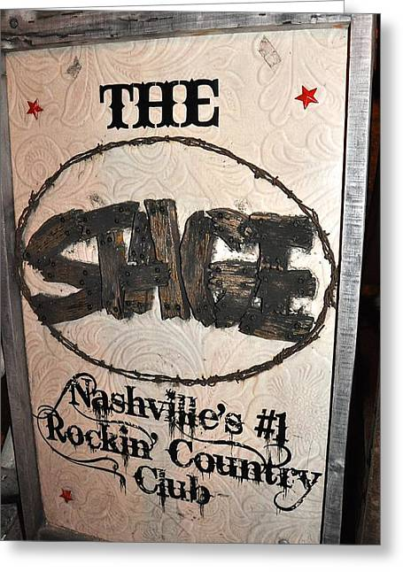 The Stage Nashville Greeting Card by Toni Ryder