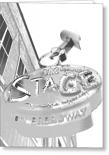 The Stage On Broadway Sketch Greeting Card