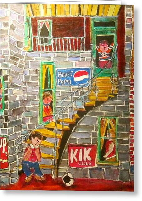 The Staircase Greeting Card by Michael Litvack