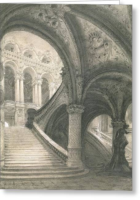 The Staircase Of The Paris Opera House Greeting Card