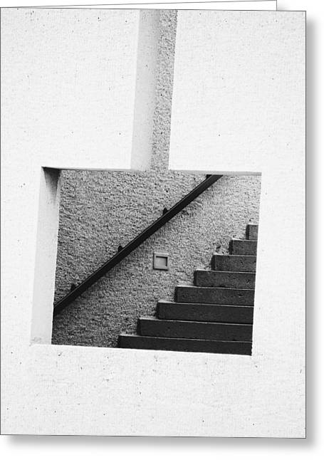 The Stairs In The Square Greeting Card by David Pantuso