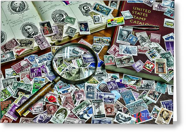 The Stamp Collector Greeting Card by Paul Ward
