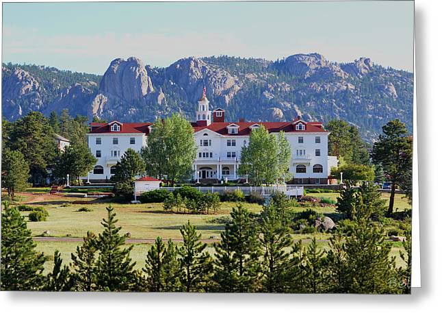The Stanley Hotel Greeting Card by Christine Belt