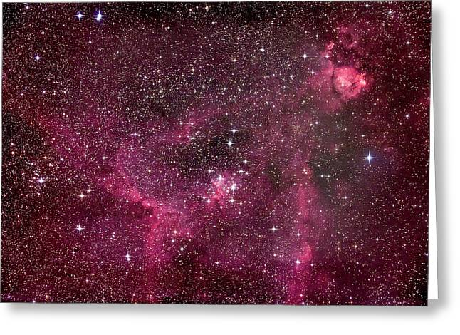 The Star-filled Heart Nebula Greeting Card by Alan Dyer