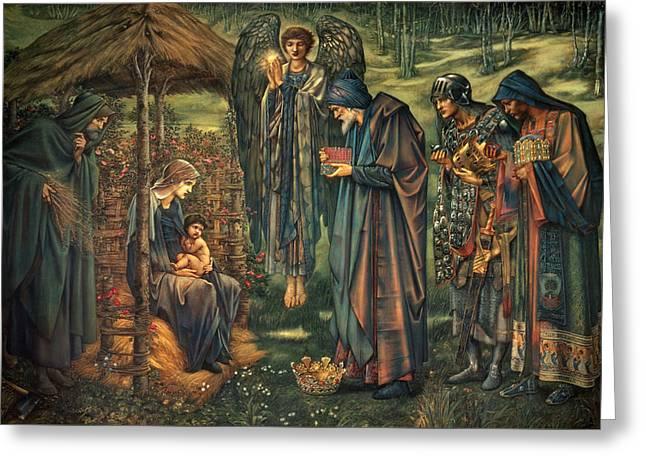 The Star Of Bethlehem Greeting Card by Edward Burne-Jones