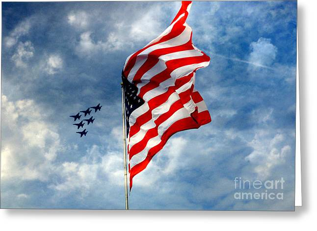 The Star Spangled Banner Yet Waves Greeting Card
