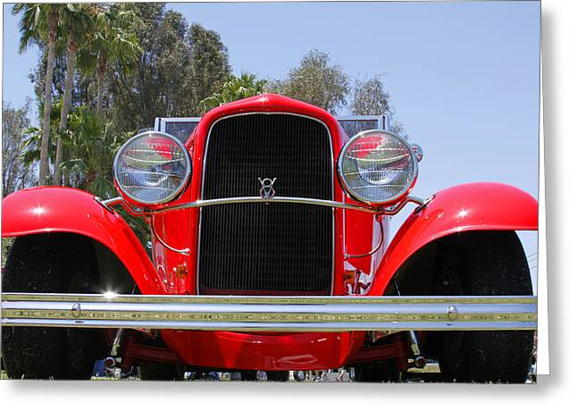 Greeting Card featuring the photograph The Stare Of A V8 by Shoal Hollingsworth