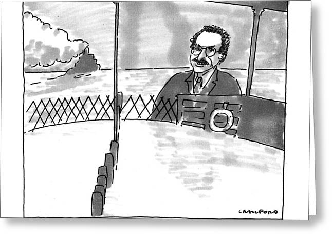 The Staten Island Ferry And Her Lawyer Greeting Card by Michael Crawford